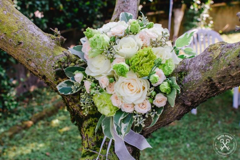 matrimonio schio vicenza White frame bouquet