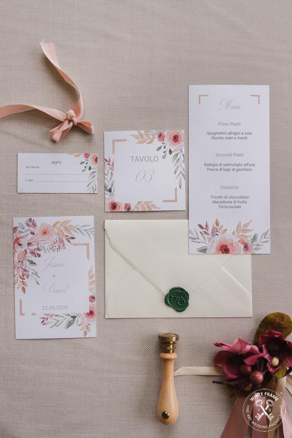 White Frame partecipazioni di nozze